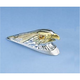 Large Chrome/Gold Eagle Head with Lights Fender Ornament - DS-287552