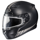Matte Black/Reflective CL-17SN Streamline MC-5RF Snowmobile Helmet w/Dual Lens Shield