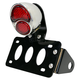 Polished Stainless Steel Model A Taillight/License Plate Bracket Kit w/LED Bulbs and Red Lens - 107-0050