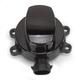 Gloss Black Side Hinge Ignition Switch W/ Fork Lock - 2106-0250