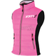 Womens Fuchsia/Black Block Heater Vest