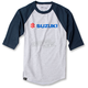 Gray/Navy Blue Suzuki Baseball T-Shirt