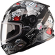 Youth Black/Silver GM49Y Attack Snowmobile Helmet