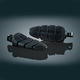 Gloss Black Kinetic Male Mount Footpegs - 4317