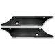 Black Smooth Saddlebag Latch Covers - PO104710B