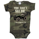 Infant Camo Cant See Me One Piece Romper