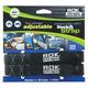 Black/Reflective Heavy-Duty Stretch Straps - 2014-003
