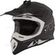 Matte Black/White TX 707 Carbon Fiber Helmet