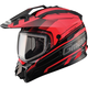 Black/Red GM11S Trekka Snow Sport Snowmobile Helmet