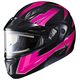 Pink/Black/Gray CL-Max 2 Ridge Helmet w/Electric Shield