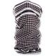 Black/White Houndstooth Fleece Lined Motley Tube - TF235BW