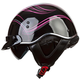 Womens Black/Pink/Gray SC3 Crazy SC3 Half Helmet with Sunshield