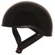 Gloss Black Mikro Old School Helmet