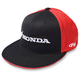 Black/Red Honda Horizontal Flex-Fit Hat