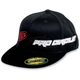 Black/Red PC Straight Hat