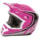 Youth Pink/Black/White Kinetic Fullspeed Helmet
