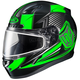 Black/Green/Gray CL-17SN MC-4 Striker Helmet w/Frameless Dual Lens Shield