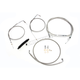 Stainless Braided Handlebar Cable and Brake Line Kit for Use w/OEM Handlebars - LA-8110KT-00