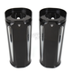 Black Anodized +2 in. Deep Cut Fork Boot Slider Covers - 20-029
