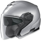 Platinum Silver N40 Jet MCS Helmet