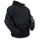Black Hooded Tech Pullover