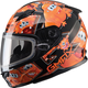 Youth Black/Orange GM49Y Attack Snowmobile Helmet