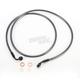Black Pearl Designer Series 35 Degree Top Angle Custom Single-Disc Front Brake Line - 46158SW