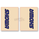 Blue/Black Showa Upper Fork Decals - 01011