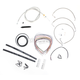 Stainless Braided Handlebar Cable and Brake Line Kit for Use w/12 in. - 14 in. Ape Hangers - LA-8010KT2-13