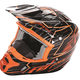 Orange/Black Kinetic Pro Cold Weather Speed Helmet