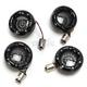 Gloss Black Bullet Ringz LED Turn Signal Kit - BTR-KIT-BCM2B