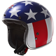 Red/White/Blue Easy Rider Kurt Bobber OF588 Open Face Helmet