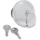 Chrome Vented Screw-In Locking Gas Cap - 0703-0228