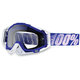 Blue/White Racecraft Goggles w/Clear Lens - 50100-022-02
