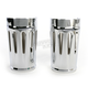 Chrome Deep Cut Fork Boot Slider Covers - 20-032