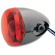 Black Nickel Turn Signal w/ Red Lens - 8887R-BN
