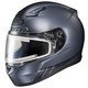 Matte Anthracite/Black CL-17SN Streamline MC-5F Snowmobile Helmet w/Electric Shield