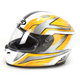 Ace FG-17 White/Black/Yellow Helmet