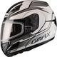 Black/Silver GM44S Glacier Modular Snowmobile Helmet