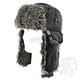 Black Trooper Hat w/Gray Fur - WTH114