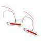 Chrome Plated Tribal Slotted LED Bag Lights - BL01-LSC