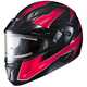 Black/Red/Gray CL-Max 2 Ridge Helmet w/Electric Shield