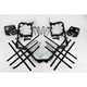 Black Nerf Bars w/Plate Heel Guards - H042037BL