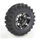 Front Left Machined Black 26X9-12 Slingshot Tire/Wheel Kit - 2012-011L