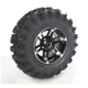 Rear Left Machined Black 26X11-12 Slingshot Tire/Wheel Kit - 2016-011L