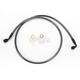 Black Pearl Designer Series 35 Degree Top Angle Custom Single-Disc Front Brake Line - 46145SW
