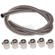 Stainless Steel Braided Fuel Line Kit for Custom Use - 83215