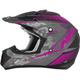 Frost Gray/Fuchsia FX-17 Matte Factor Helmet
