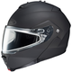 Matte Black IS-Max 2 Snowmobile Helmet w/Dual Lens Shield