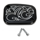 Black Engraved Front Clutch Master Cylinder Cover - 03-436